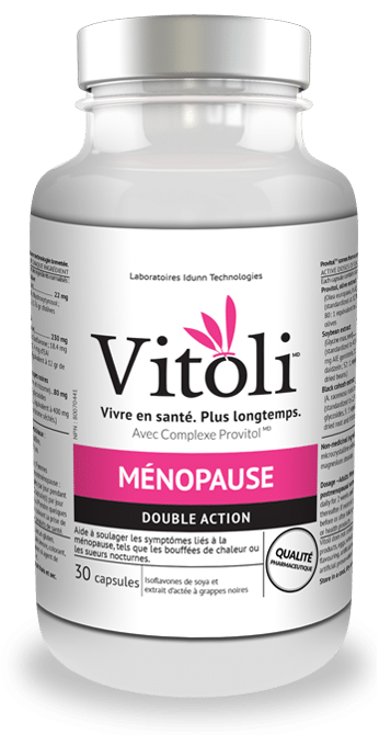 Produit naturel Vitoli, vivre en santé, plus longtemps , pour le soulagement des symptômes liés à la ménopause