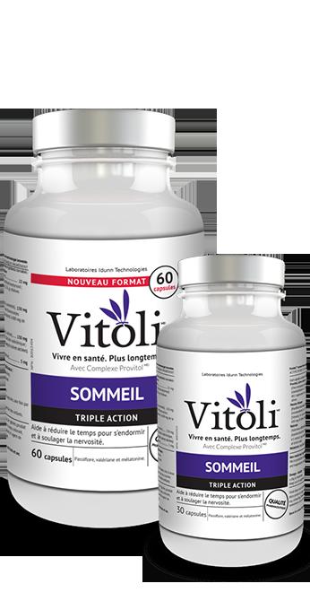 Bouteilles de 30 et 60 capsules du produit Sommeil de Vitoli