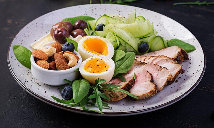 assiette d'un repas cétogène