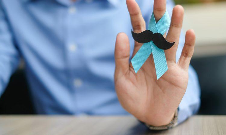 Ruban bleu pour la sensibilisation de la prostate